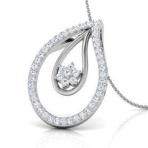 Jewelry - 6 Carats sparkling round cut diamonds pendant neck